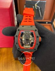 Richard Mille RM053-01 Karbon Kasa İskelet Kadran Turuncu Kordon