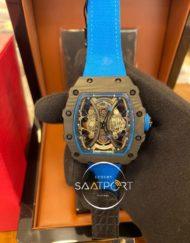 Richard Mille Mavi Silikon RM 53-01 Pablo Mac Donough Carbon Kasa