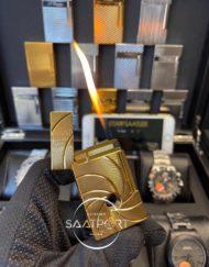 S.T. Dupont Paris Gold Çelik Kasa Mermi Delikli Çakmak