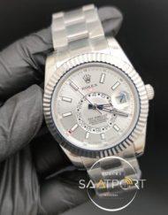 Rolex Saat Sky Dweller Gri Kadran Çelik Kasa Otomatik Mekanizma