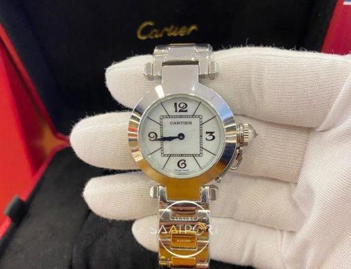 Cartier Pasha de Cartier Çelik Kasa Otomatik Mekanizma Bayan Saati