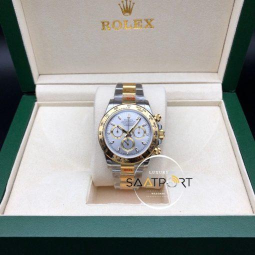Rolex Cosmograph Daytona 116523 Gri Kadran Gold Bezel Super Clone ETA