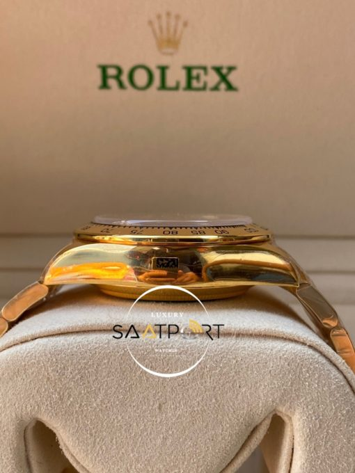 Rolex Cosmograph Daytona 116523 Beyaz Kadran Gold Kasa Super Clone ETA