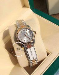 Rolex Datejust Taşlı Gri Kadran Jubile Kordon Super Clone ETA