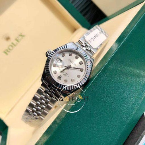 Rolex Datejust Lady 279381 Gri Taşlı Kadran 28mm Super Clone ETA